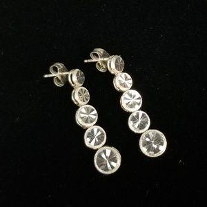 Beverly Hills Silver .925 Dangle Disc Earrings